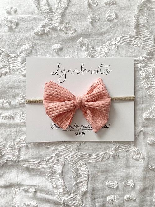 Blushing Pink Ribbed Headband