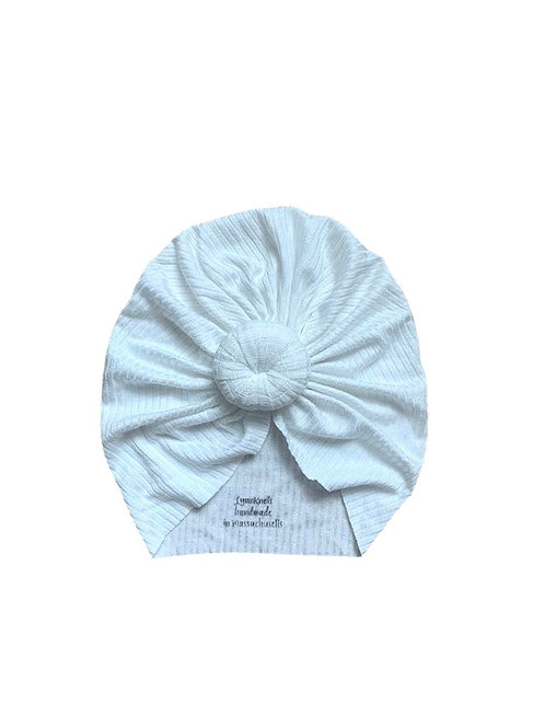 Simply White Ribbed Knot