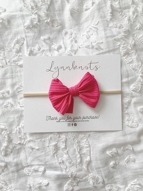 Hot Pink Ribbed Headband