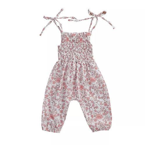 Jillian Blush Pink Floral Romper