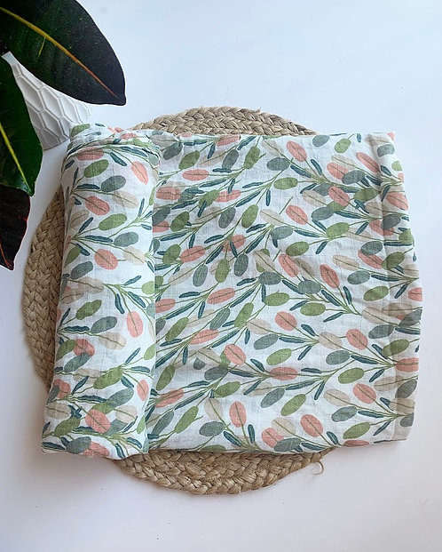 Leafy baby swaddle