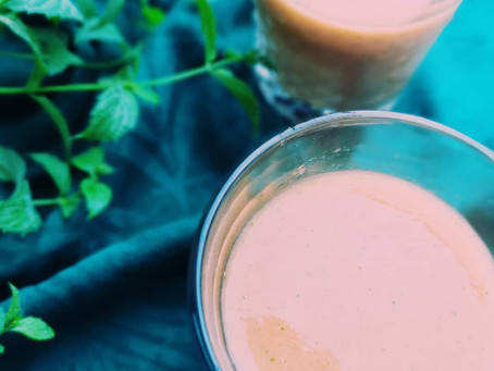 Cooling Tropical Mint Smoothie| Ayurvedic - Pitta Pacifying