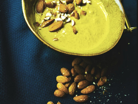 Golden Milk, Almond Breakfast Smoothie - Vata Pacifying| Ayurvedic| Vegan| Gluten-free| Sugar-free