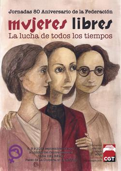 Cartel Mujeres Libres CGT