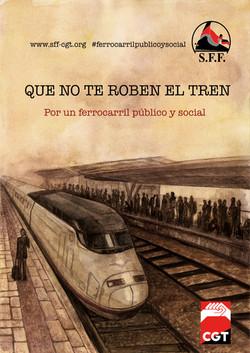Cartel Ferrocarril CGT