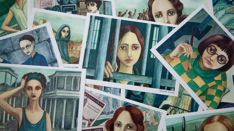 Colección tarjetas A6 Mujeres españolas