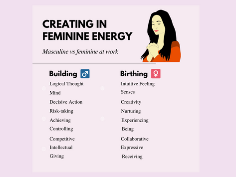 How women naturally shine at work: birthing vs building