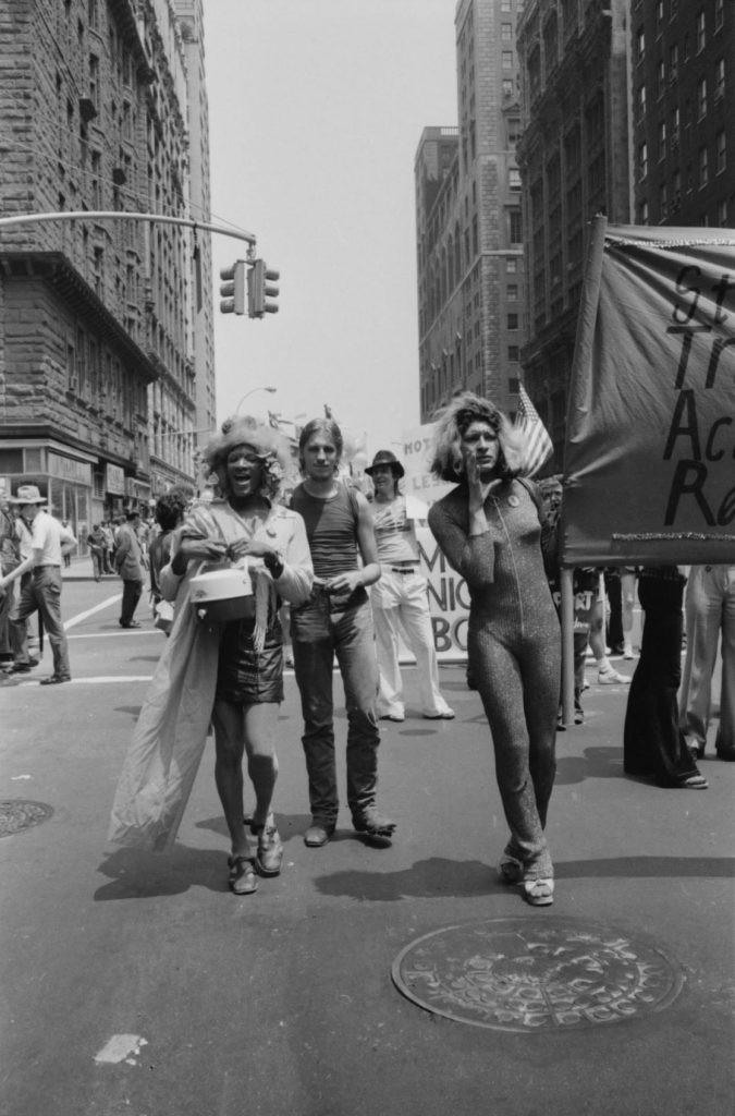 Marsha P. Johnson and Silvia Rivera at Pride Parade, New York City, 1973. Photo by Leonard Fink, Courtesy LGBT Community Centre National History Archive