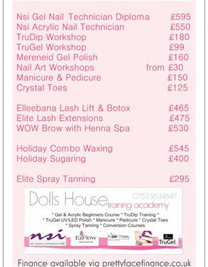 Nail & Beauty Courses @ Dolls House - January dates 💕