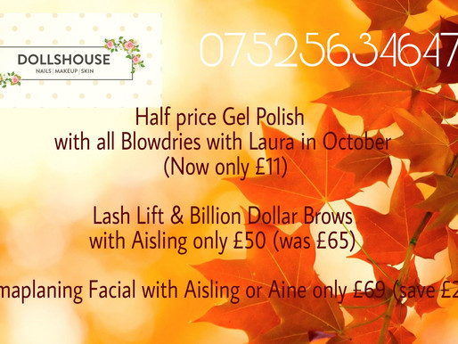 New October Offers 🎃
