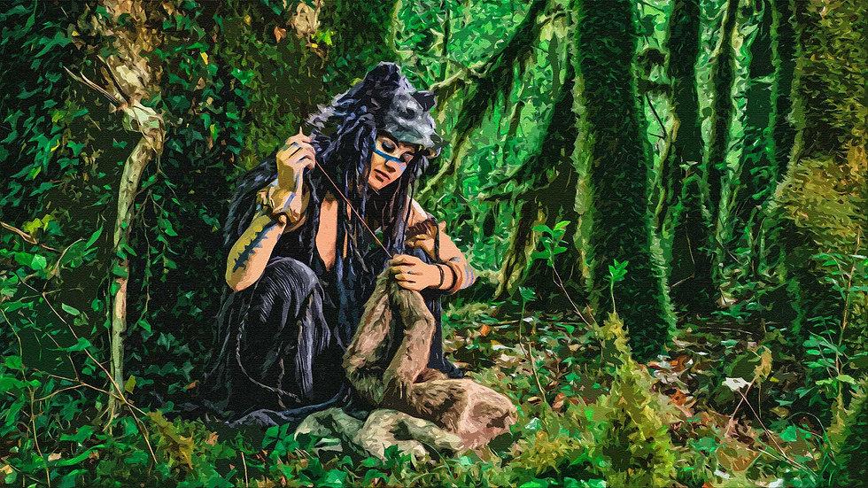 Gruliette : Création de coiffe et masque médiéval fantastique