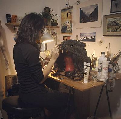 Atelier Gruliette à Lyon :  Fabrication de coiffes, masques et accessoires fantastique