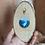 Thumbnail: Décoration murale - Totem loup bleu