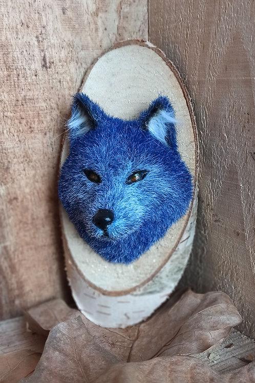 Décoration murale - Totem loup bleu