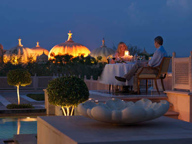 Udai Vilas Romantic Dinner Presidential suite