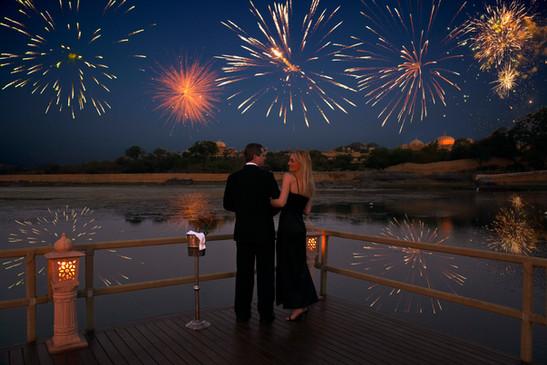 Udai Vilas Pontoon fireworks
