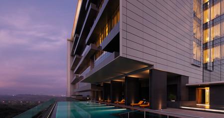 Trident Hyderabad Pool Exterior