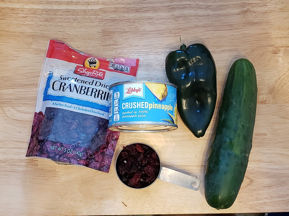 Ingredients for Cucumber Pineapple Salsa