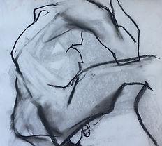 Joe's Bended Knee, chalk pastel on acid-free paper