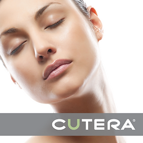 A woman's face promoting Cutera for hair removal from Age-Less Weigh-Less in Dover, NH