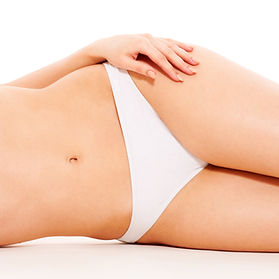 A woman's midsection after Coolsculpting treatment from Age-Less Weigh-Less in Dover, NH