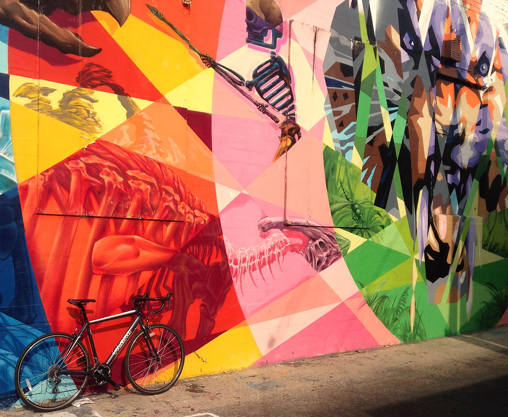 My bike and mural off of Melrose.