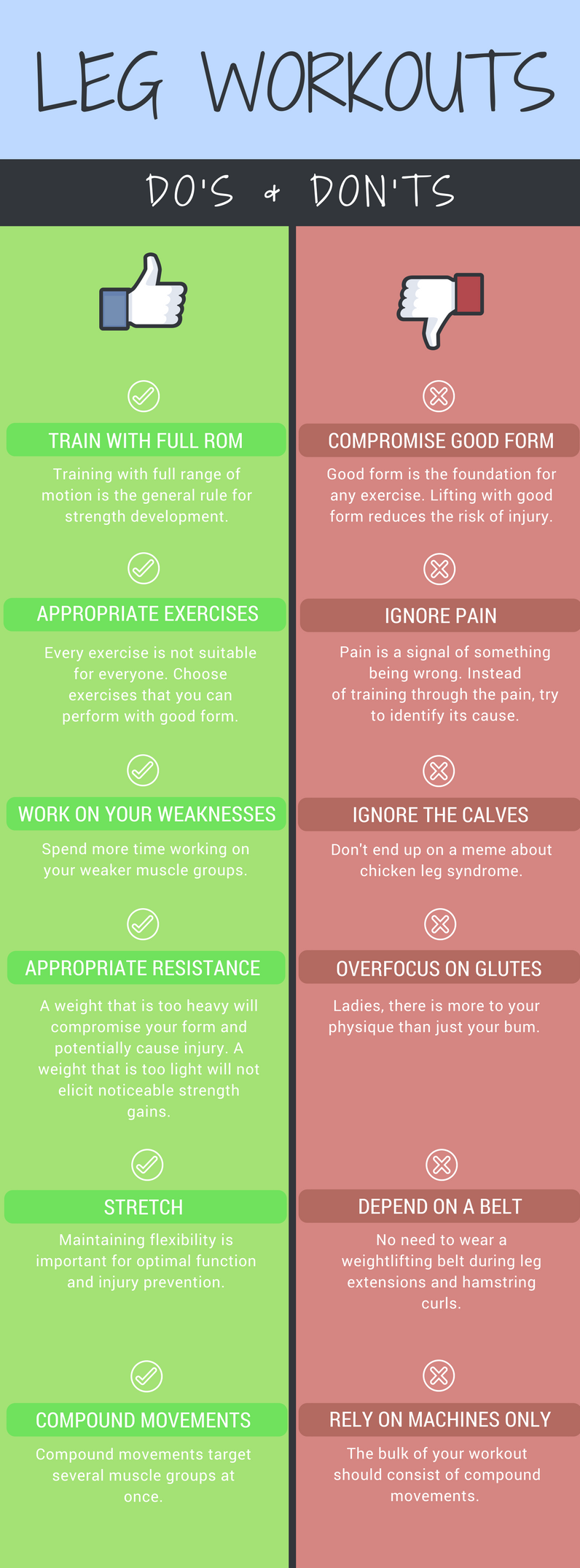 Leg Workouts Do's and Don'ts