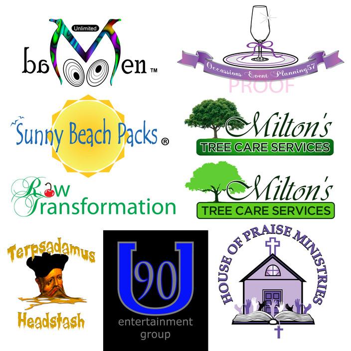 Samples of some logos I've designed for clients.