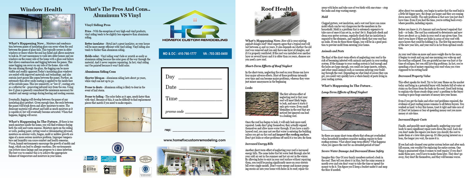 A tri-fold brochure layout I did for a client