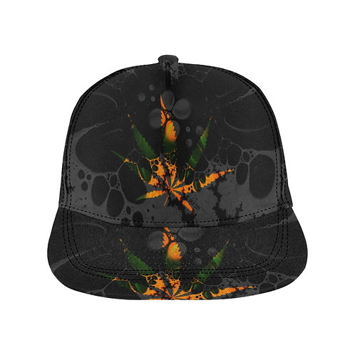 SC Sativa Abstract All-0ver Printed Snapback Cap
