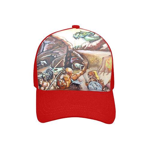 SC Slay The Dragon Printed Baseball Cap - red