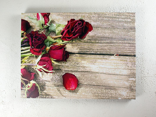 Dead Roses On Wood print hungon wall.jpg