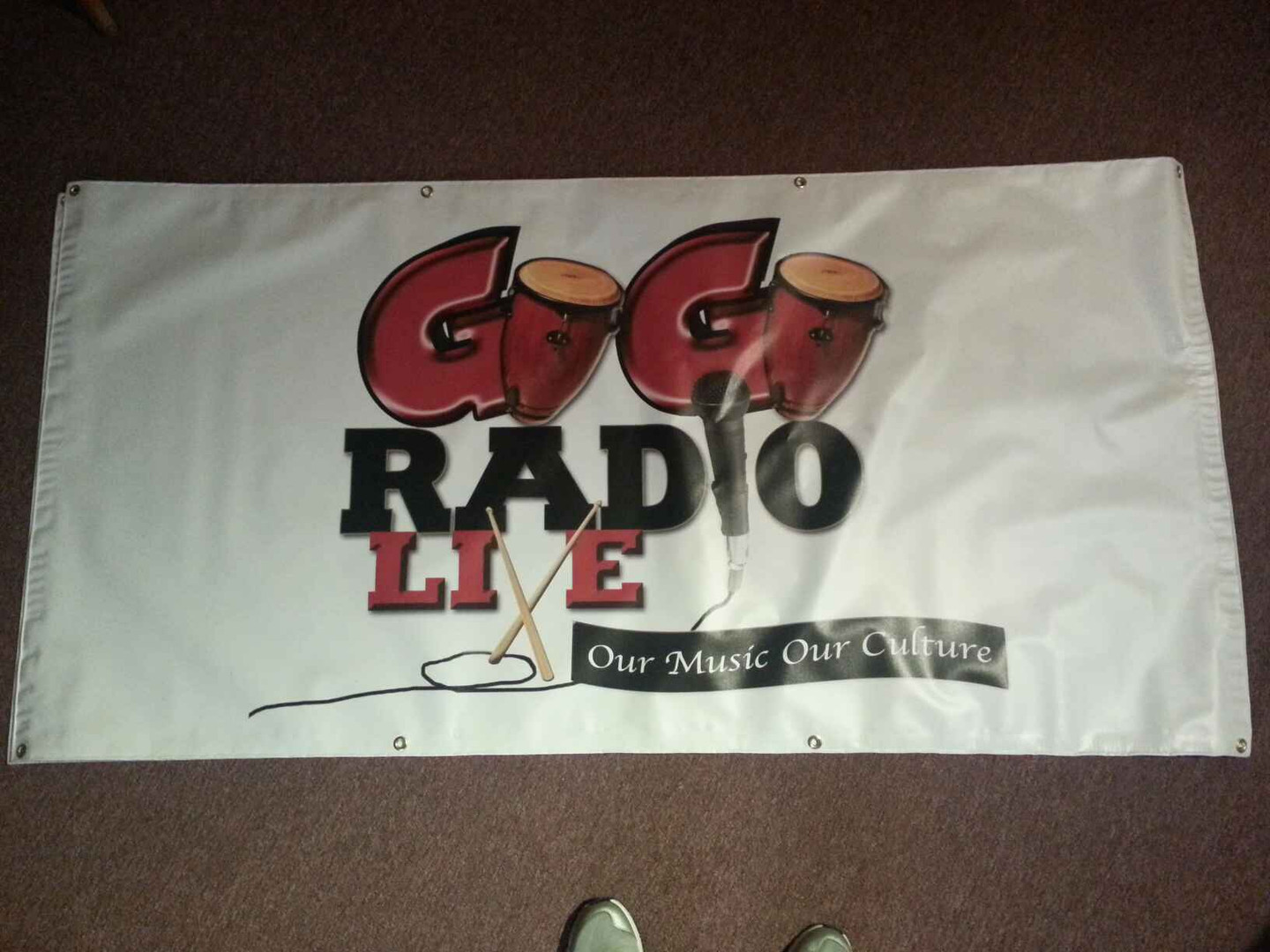 A banner I layed out and had printed for a client