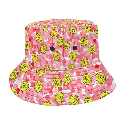 SC Blurred Eyes Emoji Bucket Hat - pink