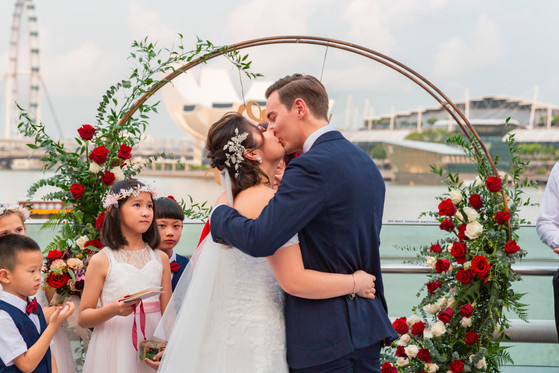 Actual Day Wedding at Monti Pavilion Singapore