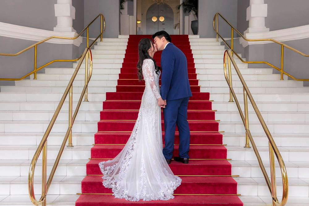 Wedding at Goodwood Park Hotel Stair| Equarius Photography
