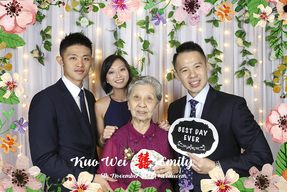 Photobooth with Ah Ma :)