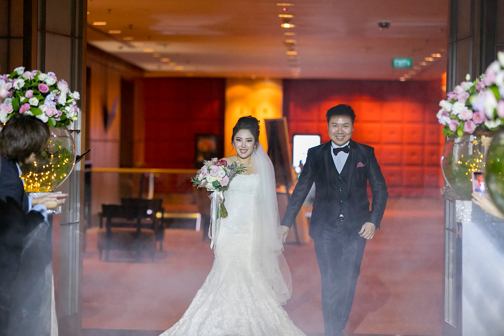 Wedding March In at Solemnization at Singapore Marriott Tang Plaza Hotel| Equarius Photography