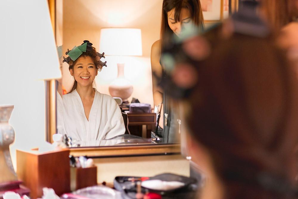 Bride Preparation at Regent Hotel Singapore