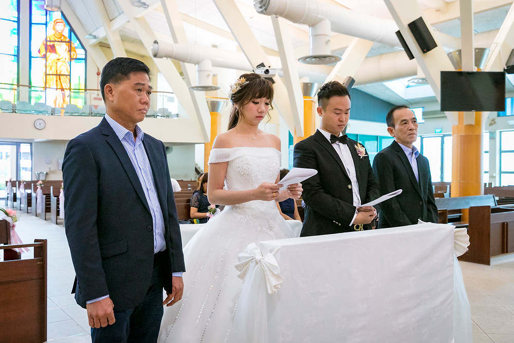 Solemnization at Church of St Francis of Assisi