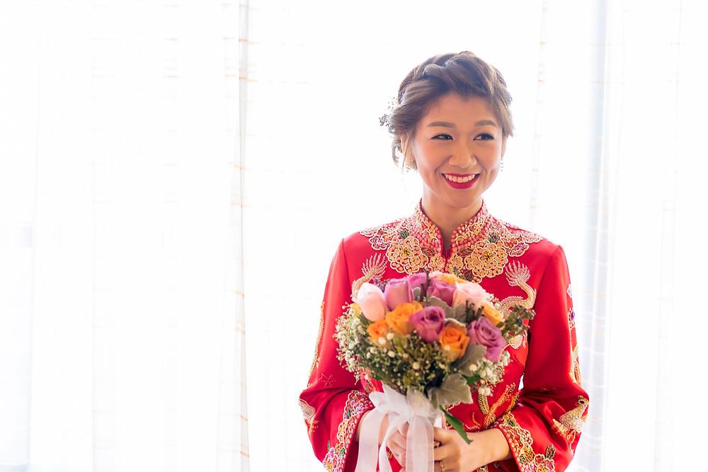 Bride's Morning WeddingPreparation at Singapore Regent Hotel