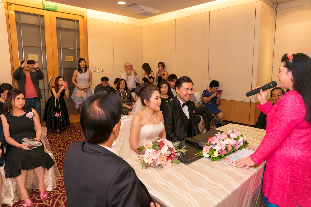 Solemnization at Singapore Marriott Tang Plaza Hotel| Equarius Photography