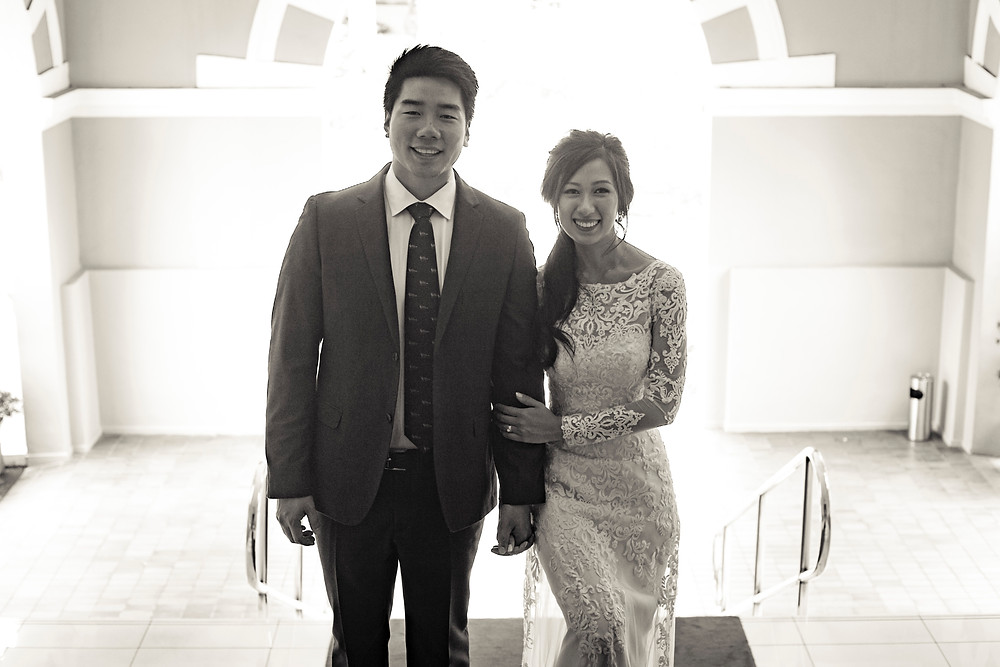 Wedding Couple Shoot at Goodwood Park Hotel Stair