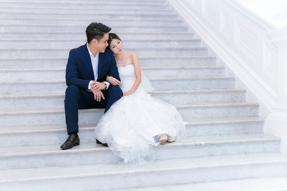 Prewedding at Victoria Concert Hall Singapore