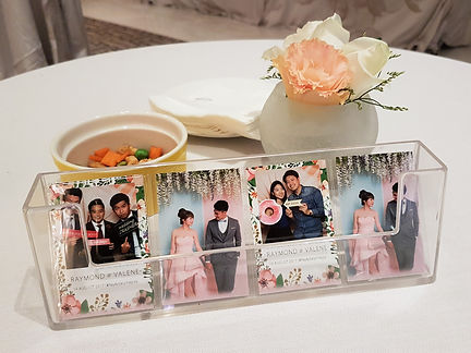 Double sided instant print for singapore wedding photo booth