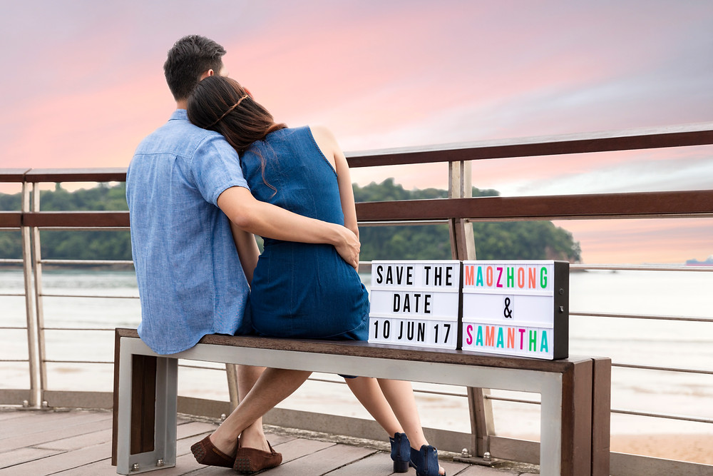 Save The Date Shoot at Keppel Bay Singapore