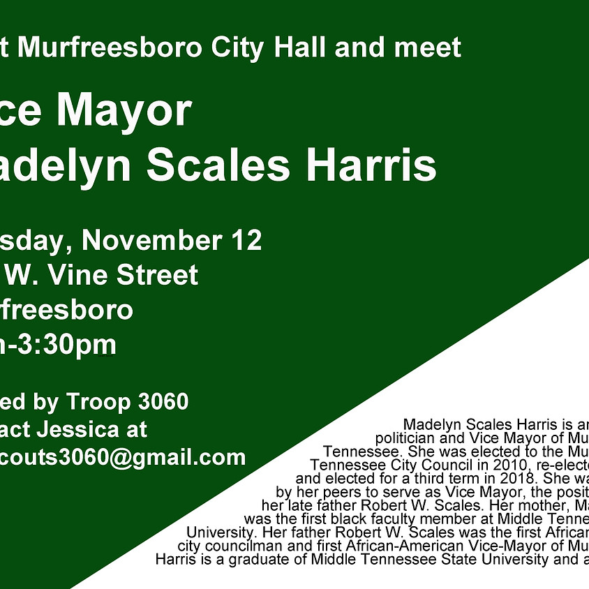 City Hall Visit & Meet Madelyn Scales-Harris