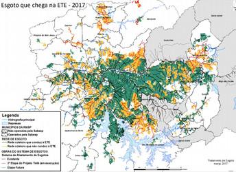 Mapa do saneamento em SP: veja os locais onde o esgoto é coletado, mas não tratado