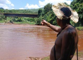 Avanço da lama vai matando o rio Paraopeba