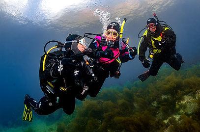 A group of divers, Solomon Baksh, The Dive Tribe Limites, Dive courses Trinidad